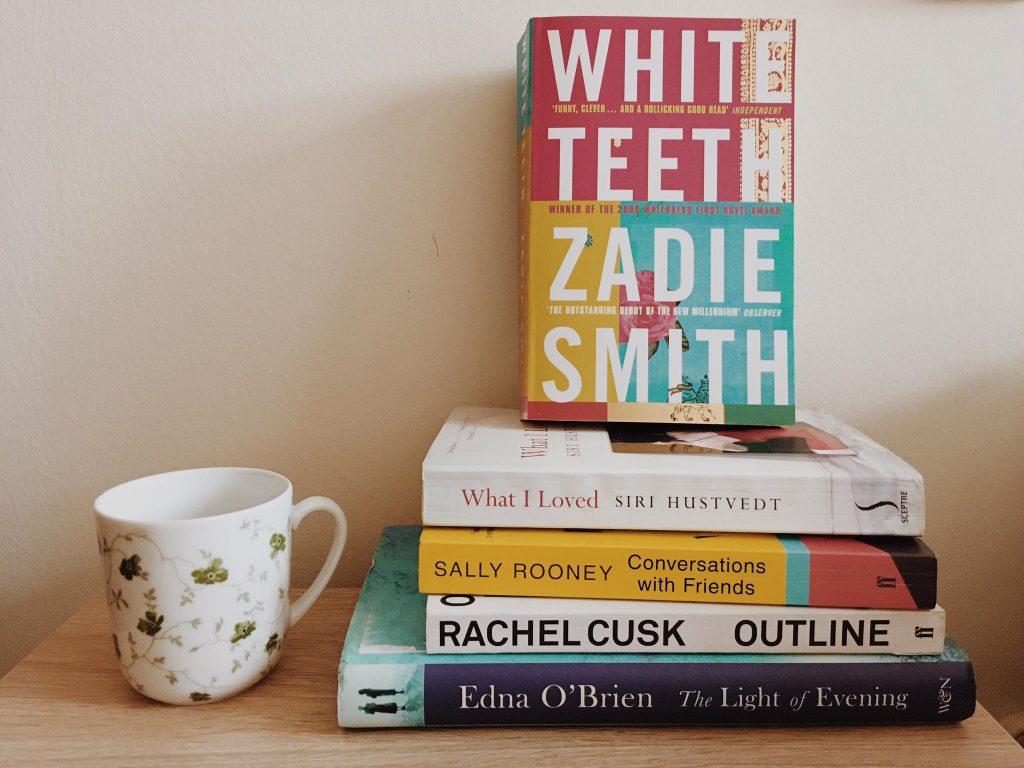 Libros de Zadie Smith, Siri Hustvedt, Sally Rooney, Rachel Cusk, Edna O'Brien