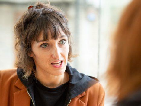 La escritora Uxue Alberdi